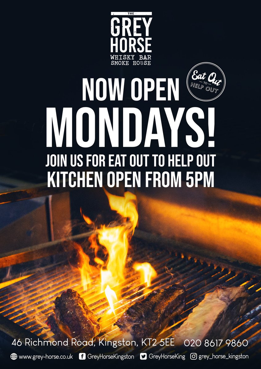 We are now opening on Mondays enjoy our award winning BBQ food @EatOutToHelpOut and #MargaritaMondays with us! Tables booking up fast! #bbq #monday #mondaymadness https://t.co/2f8mASRDJP