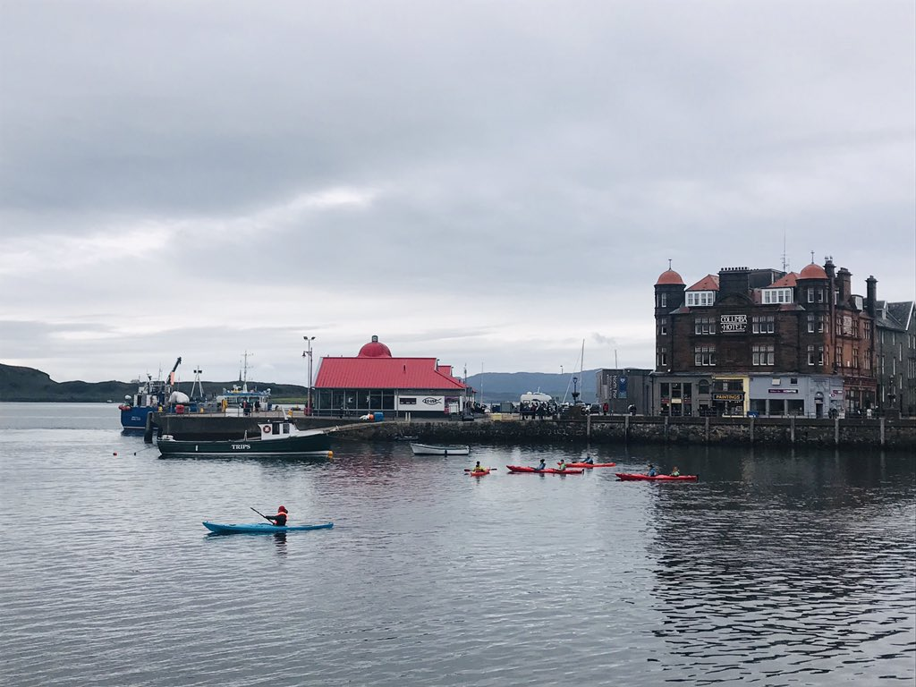 Dreich and bright all at the same time #Oban #Scotland 😃