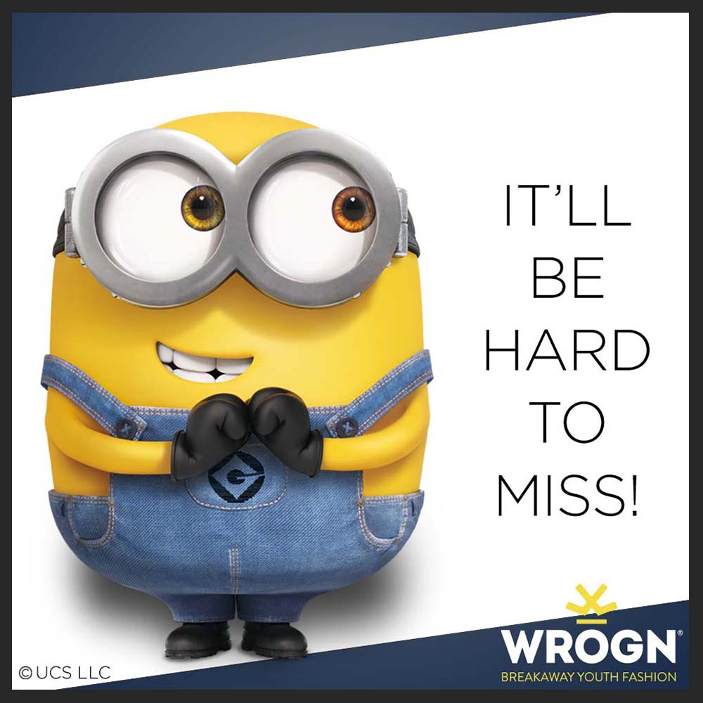 How much love for Minions is too much? Because @StayWrogn's new WROGN x MINIONS collection really got us 😍  @BWObrands  #UniversalPictures #ViratKohli #StayWrogn #Minions