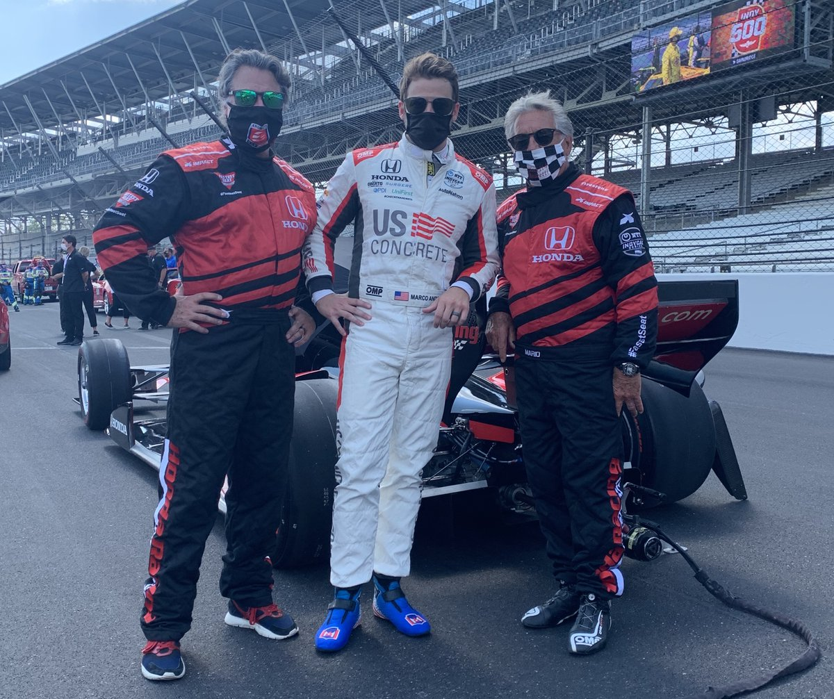 The most meaningful moments in life are the ones you share with family.   If Marco wins this race, I could not have dreamed a dream this big.  If not, we tried and had fun trying.  We absolutely love this place @IMS https://t.co/tz0BX3m8Y1