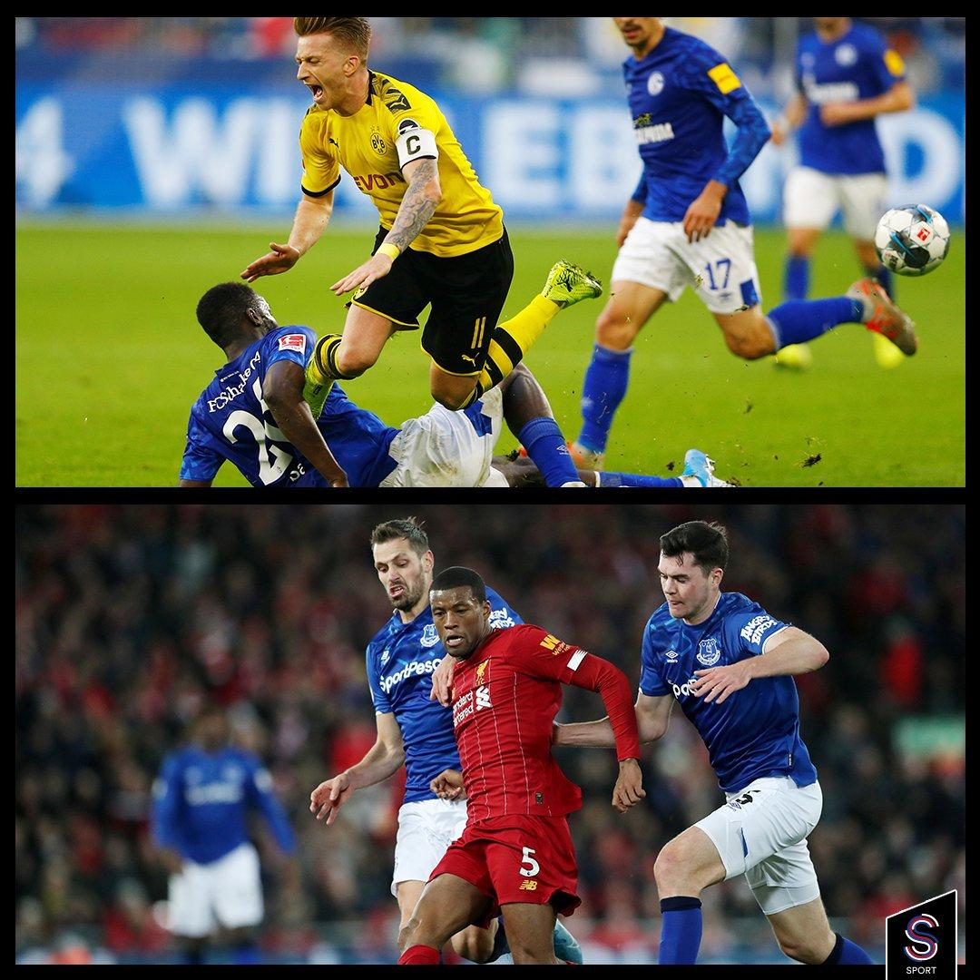#BorussiaDortmund - #Schalke04 ve #Everton - #Liverpool maçlarının ikisine de davetiyen olsa hangisini tercih ederdin? #Revierderby mi yoksa #MerseysideDerby mi? Diğer bileti kime verirdin? #Bundesliga #PremierLeague https://t.co/iFq3wrErJe