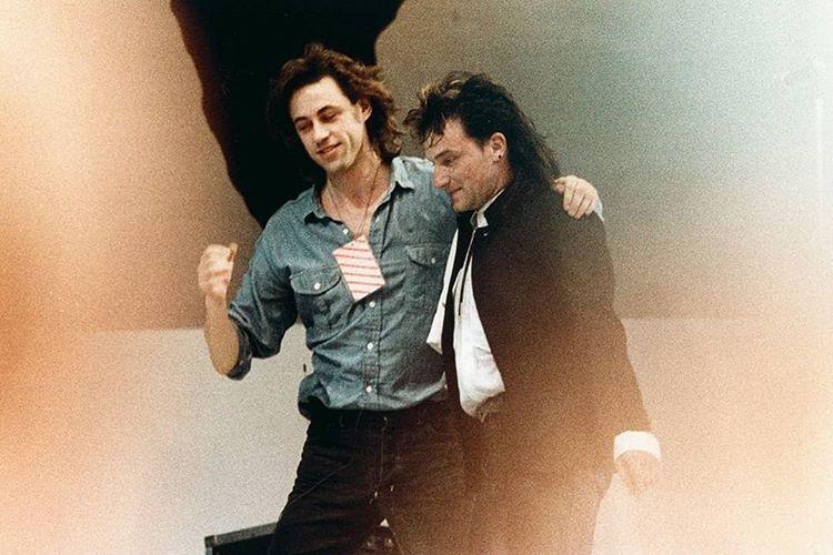 "Music History en Twitter: ""Bob Geldof and Bono at Live Aid 1985.… """