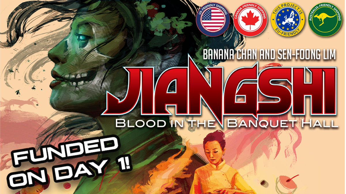 Did you miss out on backing Jiangshi: Blood in the Banquet Hall? You can still late-pledge for this awesome game by @bananachangames and @SenFoongLim!  https://t.co/dHrmNnh8BJ https://t.co/5AhQIDtUEc