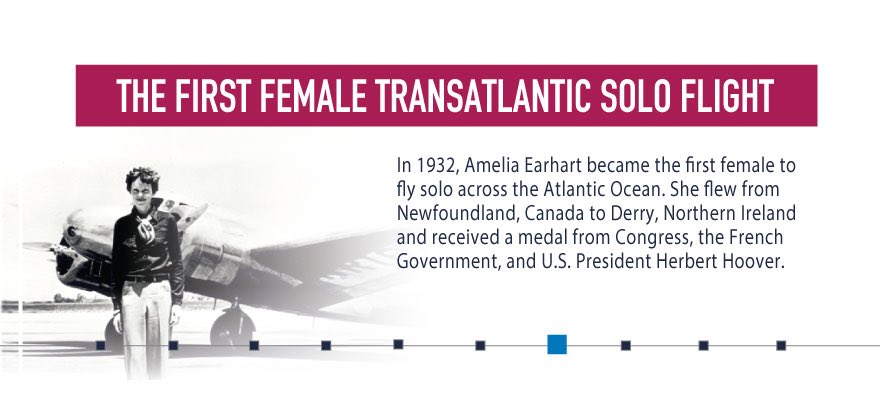 #AmeliaEarhart was the first woman to fly solo across the Atlantic. #NationalAviationWeek #womeninaviation https://t.co/wxJH60OSQW