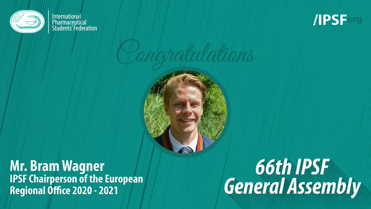 Congratulations to Mr. Bram Wagner (K.N.P.S.V, The Netherlands) for being elected to the position of IPSF Chairperson of the European Regional Office 2020 - 2021 #IPSForg #66thGeneralAssembly https://t.co/jZPH8MUMMb