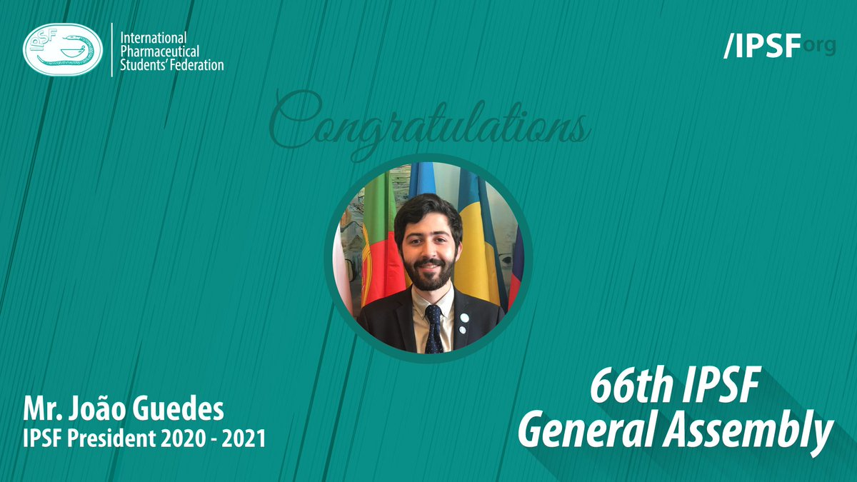 Congratulations to Mr. João Guedes (APEF, Portugal) for being elected to the position of IPSF President 2020 - 2021 #IPSForg #66thGeneralAssembly https://t.co/6XWBywMumb