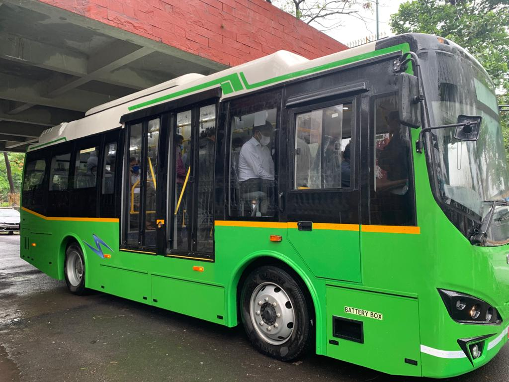 A new chapter of sustainable development in Surat City. Today we have started the prototype of E Bus for Surat City.