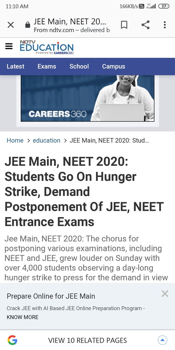 #SWAMYJI_HELPJEENEET If the future of this young nation does not listen to them, then how will the country grow? So JEE and NEET exams should be postponed!  सभी छात्रों की एक ही माग परीक्षा को स्थगित किया जाए!