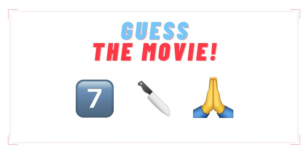 Can you guess the movie based on the below emoji's?   #GuessTheMovie #ContestAlert #CommentBelow https://t.co/grsIIxEtI6