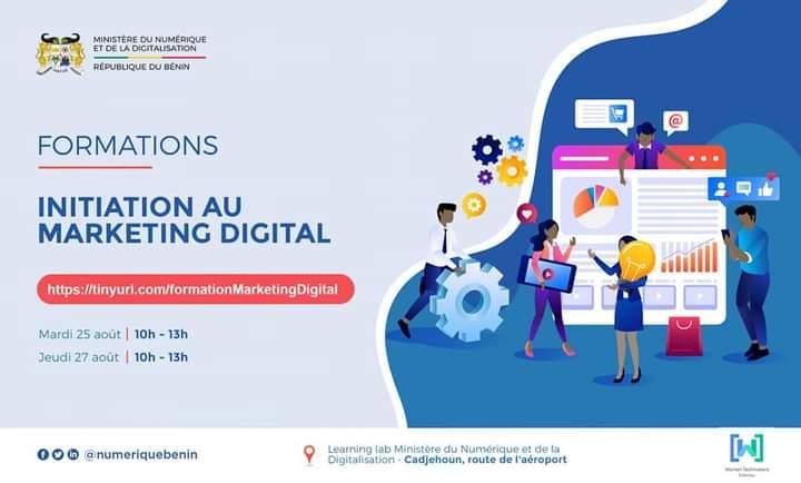 J'anime une formation sur le #marketingdigital  📆 Mardi 25 - Jeudi 27 août 2020  📌 learning lab du @numeriquebenin Inscription ici▶https://t.co/uu6dXIfO6a   #team229 #wasexo #beninnumerique https://t.co/Tz6jx6VEUj