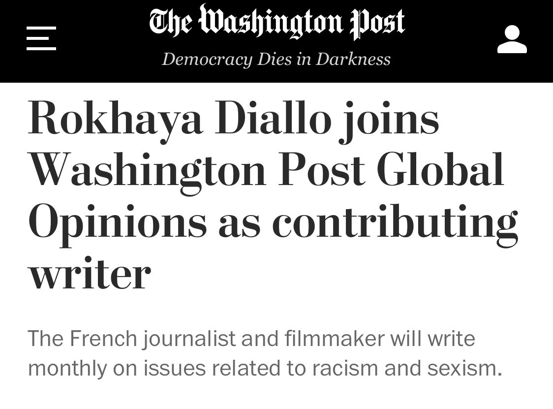 From La Courneuve to the @washingtonpost 💪🏿 I am honored to announce that I am the first French journalist to join the Washington Post Global Opinions as a contributor on social issues. Thanks to @elopezgross for trusting me!  Immense fierté 🙏🏿🙏🏿🙏🏿 https://t.co/IQ7Zj1t0s4 https://t.co/6CEZd2me6M