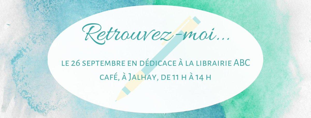 En raison de la #COVID19, la #FoireDuLivre de #Verviers, à laquelle je participais, vient d'être annulée... 🙁  En revanche, vous pourrez me retrouver en séance de #Dédicaces à la #Librairie @ABCCafejalhay le 26 septembre, de 11 h à 14 h.  #Jalhay #Livres #Autrice #AutoEdition https://t.co/f6JUBRHmDT