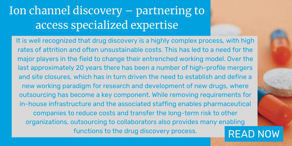In this Editorial, the authors from @Metrion_Biosci and @lifearc1 discuss how outsourcing to #ionchannel research specialists can add real value to a therapeutics program. https://t.co/bJH5ZlsvjU #drugdiscovery https://t.co/yuA6ZJYp1x