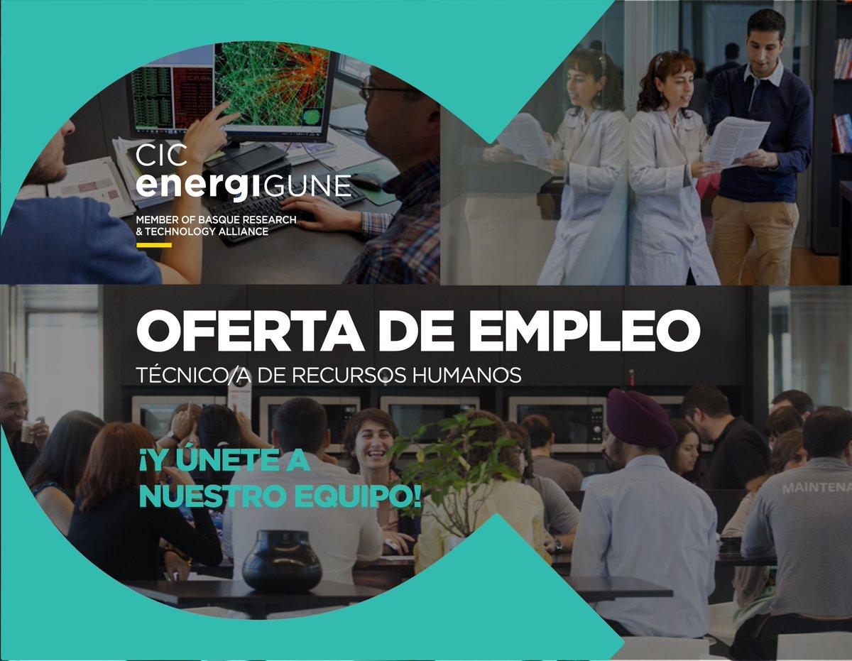 En CIC energiGUNE @brta_eus necesitamos incorporar un Técnico de #RecursosHumanos. Si crees que cumples los requisitos y quieres formar parte de un equipo joven, motivado y con ganas de cambiar el mundo, ¡inscríbete! 👉 https://t.co/Ka5A1oM8LJ @VG_empleoformac #empleo #rrhh https://t.co/3HZmzhQ8x1