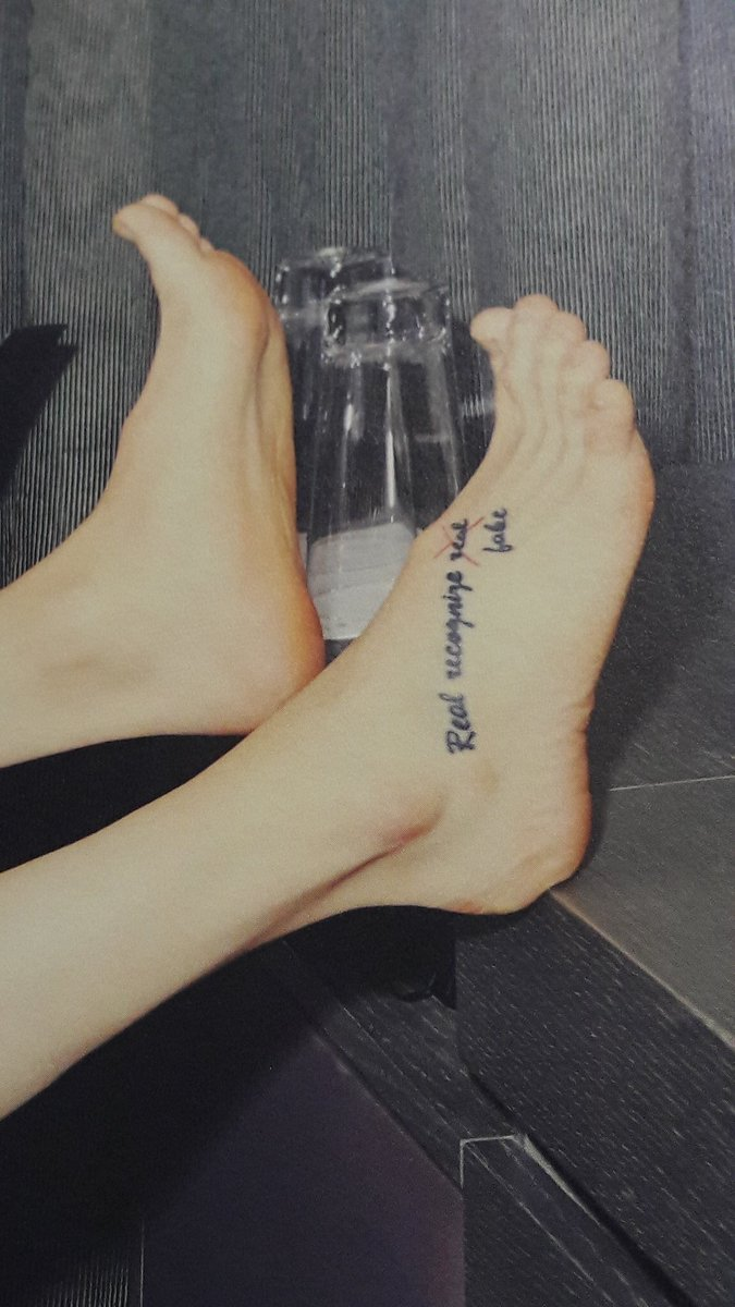 """Gojo's simp) KING주헌 on Twitter: """"Wonho's """"Real recognize real fake"""" tattoo makes an appearance in his 1st solo album!!!… """""""