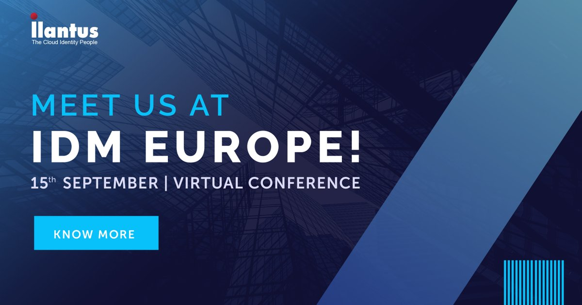 Join #Ilantus at IDM Europe 2020! Meet us virtually at the conference enabled with a fully interactive walkthrough exhibition, and let's talk about how our comprehensive #Identity solution can cater to your needs: https://t.co/7U2qdE4qch #IlantusatIDMEurope #IDMEurope #IDM2020 https://t.co/y6omnjDjfH