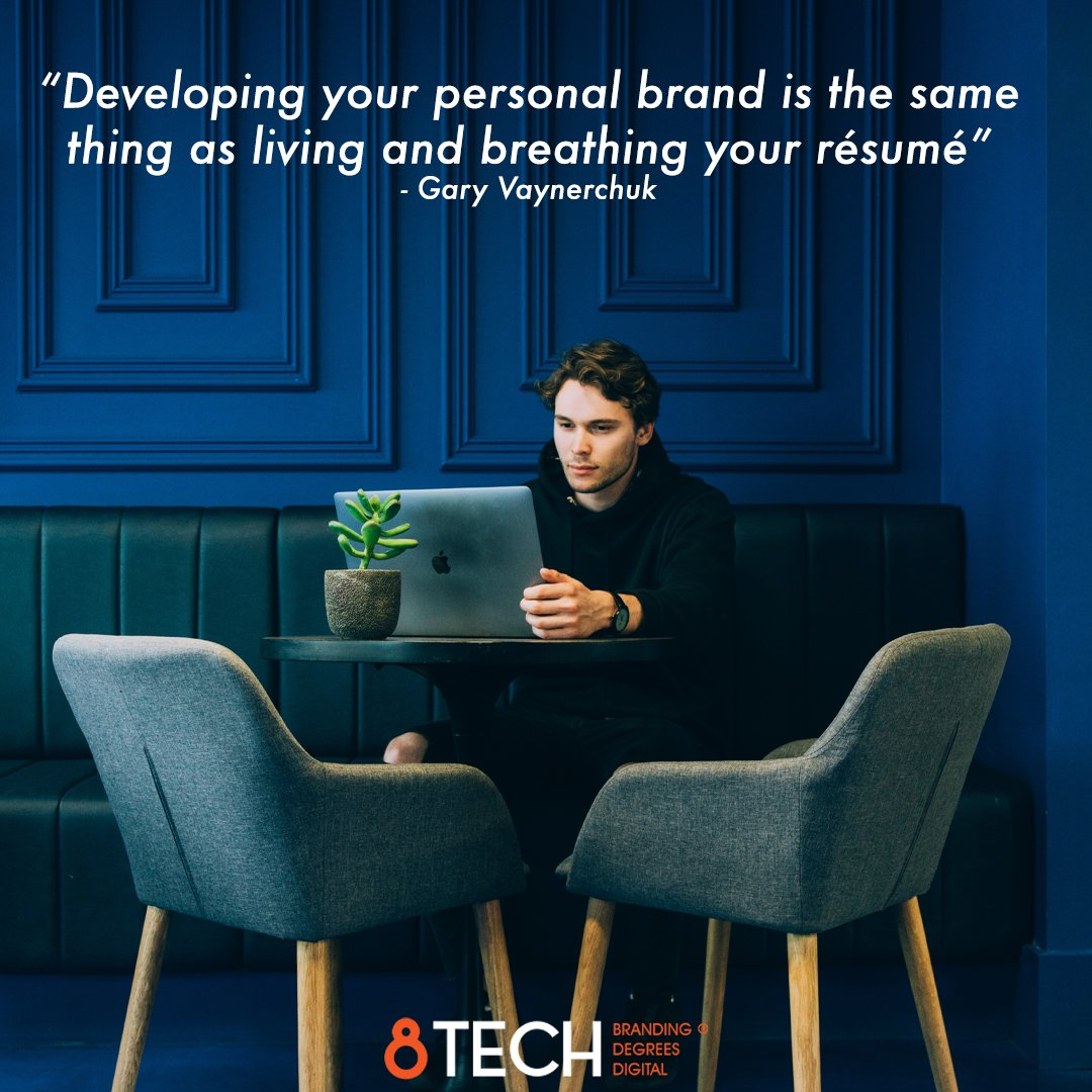 """""""Developing your personal brand is the same thing as living and breathing your résumé"""" ― Gary Vaynerchuk #quoteoftheday #inspiration #motivationmonday #motivation #quotes https://t.co/SB9khMjIDh"""