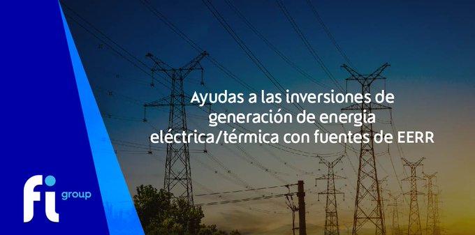 😍 El  va a publicar próximamente «Ayudas a las inversiones de generación de energía eléc....