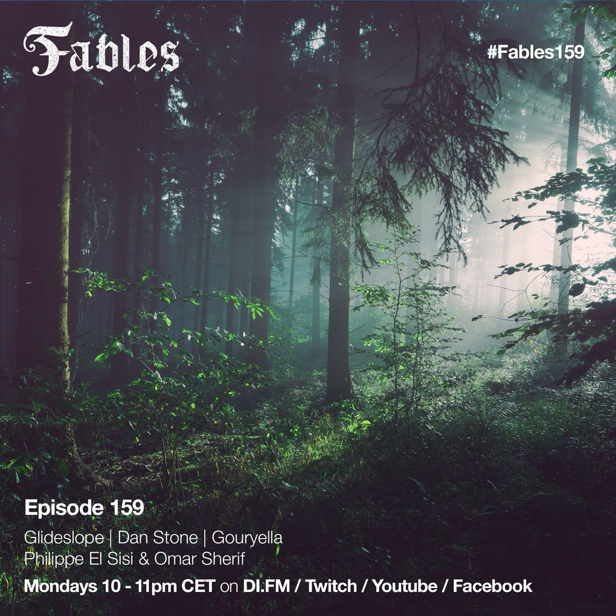#Fables159 is just around few hours away with new music by @glideslope , @danstonemusic , @GouryellaFC , @Philippeelsisi & @djomarsherif. Don't forget to tune into @difm or watch on https://t.co/5FzonltBYB. https://t.co/yASrEyUZBJ