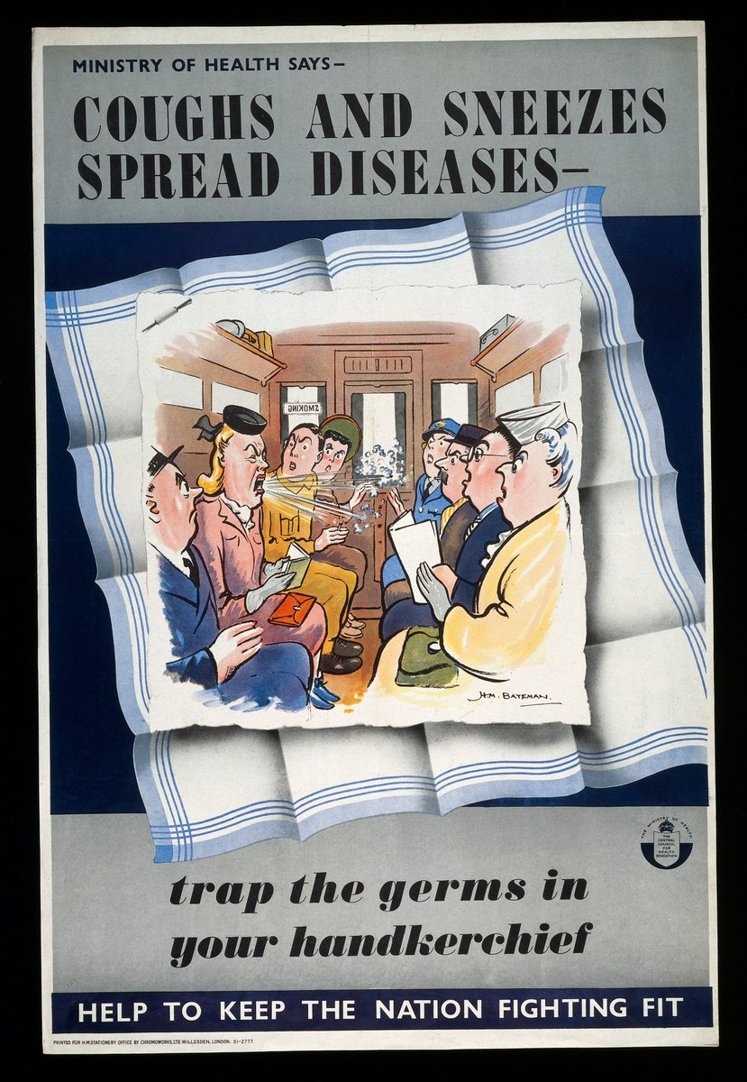 'Hands, face, space' is the newest snappy slogan from government to help us remember how to behave during the pandemic. While descriptive, it's perhaps not as memorable as the catchy rhyme 'coughs and sneezes spread diseases', a slogan from the 1940s that we still say today. 🤧 https://t.co/lOCMoOrB7v