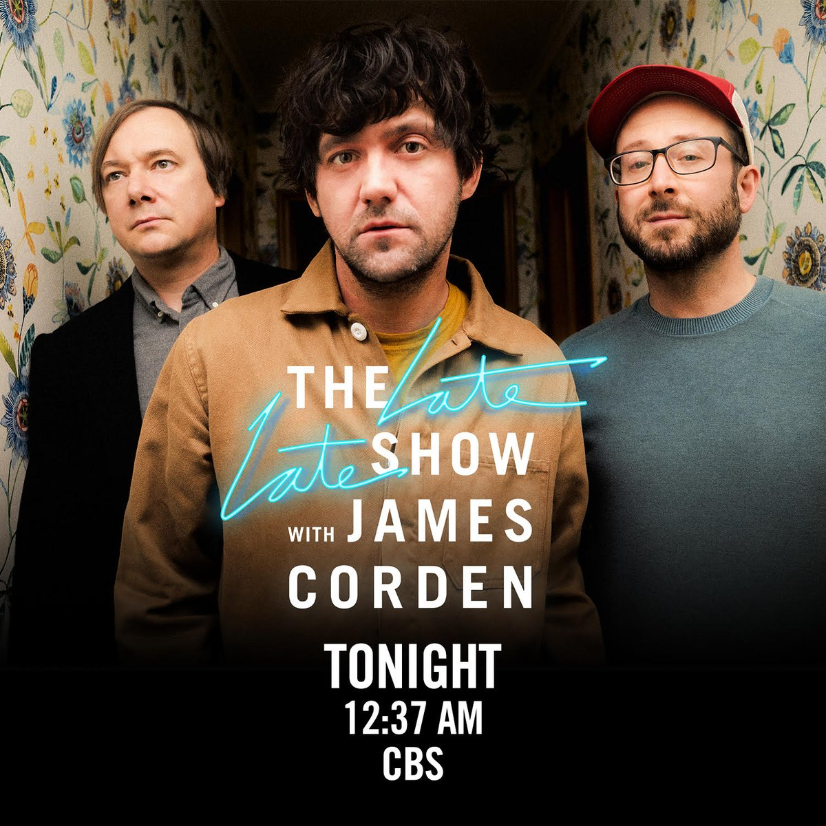 Tonight! 📺💫 Tune in at 12:37e/11:37c to see Bright Eyes on The Late Late Show with James Corden (@latelateshow ).