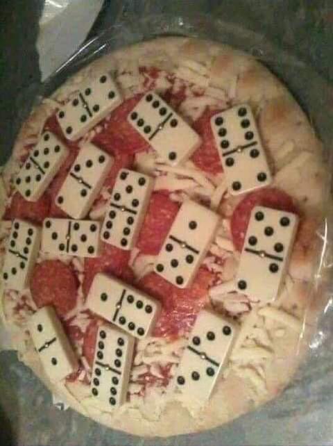 Happy birthday king  I made you a dominos pizza