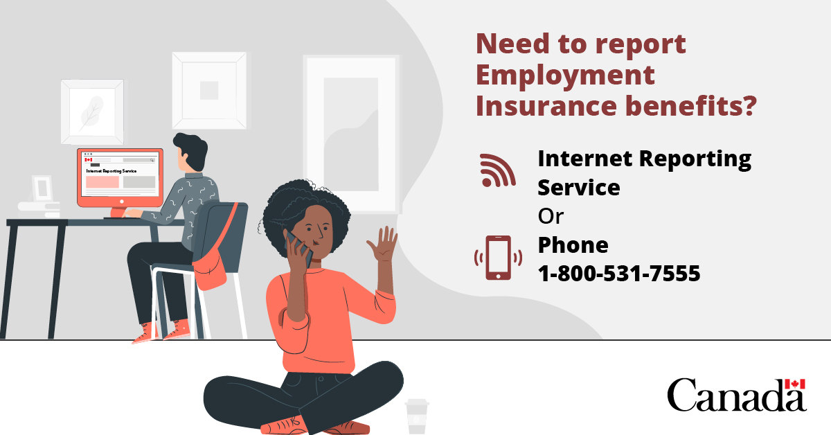 Service Canada On Twitter You Can Complete Your Biweekly Reports Online Through The Internet Reporting Service Https T Co Ydeom79ony Or By Calling 1 800 531 7555 Https T Co Ntbzovo8el