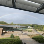 Image for the Tweet beginning: Beautiful rainbow view from @wellcomegenome,