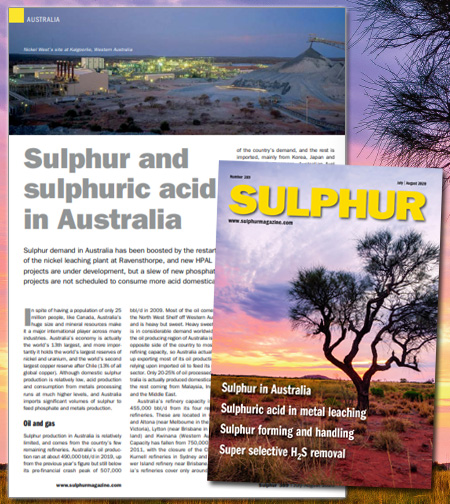 #sulphur demand in #Australia has been boosted by the restart of the #nickel #leaching plant at #Ravensthorpe, and new #HPAL projects are under development, but a slew of new #phosphate projects are not scheduled to consume more acid domestically  https://t.co/sG3pvKlH4j https://t.co/iPQyLhf7OF