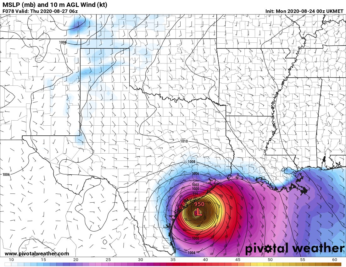 Eric Berger On Twitter The Ukmet Model Which Has Consistently Brought A Powerful Laura To The Central Texas Coast And Has Performed Well So Far Has Made A Significant Switch With Its