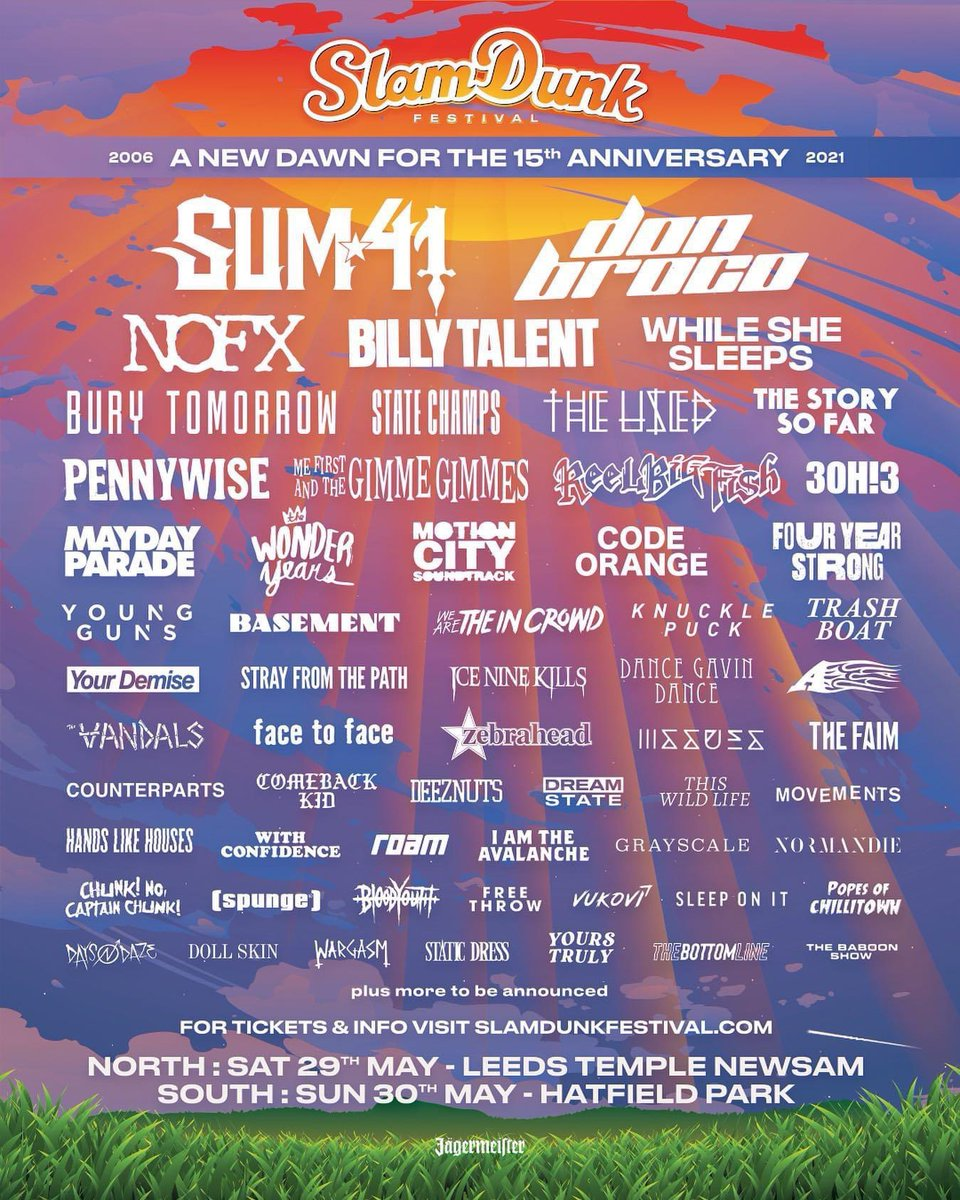 Let's make this happen, UK. @SlamDunkMusic have moved to the summer of 2021, and we're ready to get the pit going again. Tickets are available now at