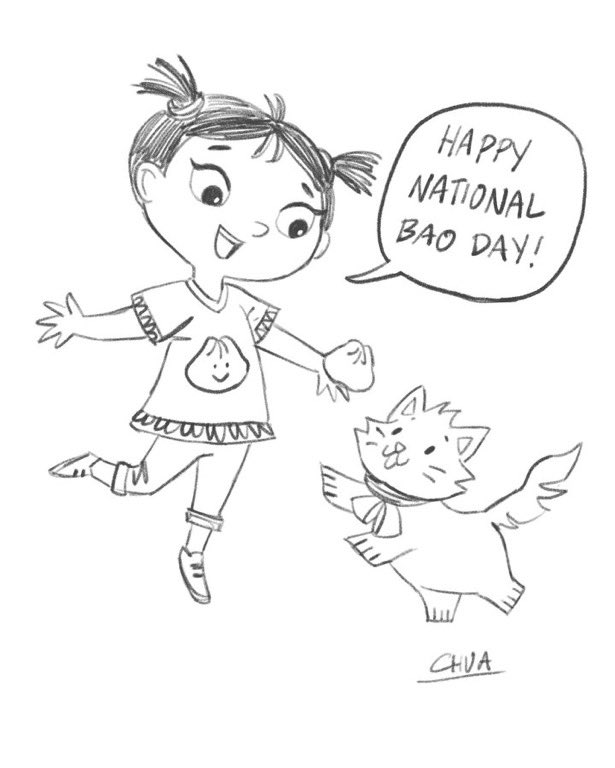 National Bao Day was this past weekend, but Amy and her kitty celebrate every day! @charlenedraws drew this adorable sketch for a coloring page. Contact one of us to get a full-sized copy :) https://t.co/VLSr4L0RxW