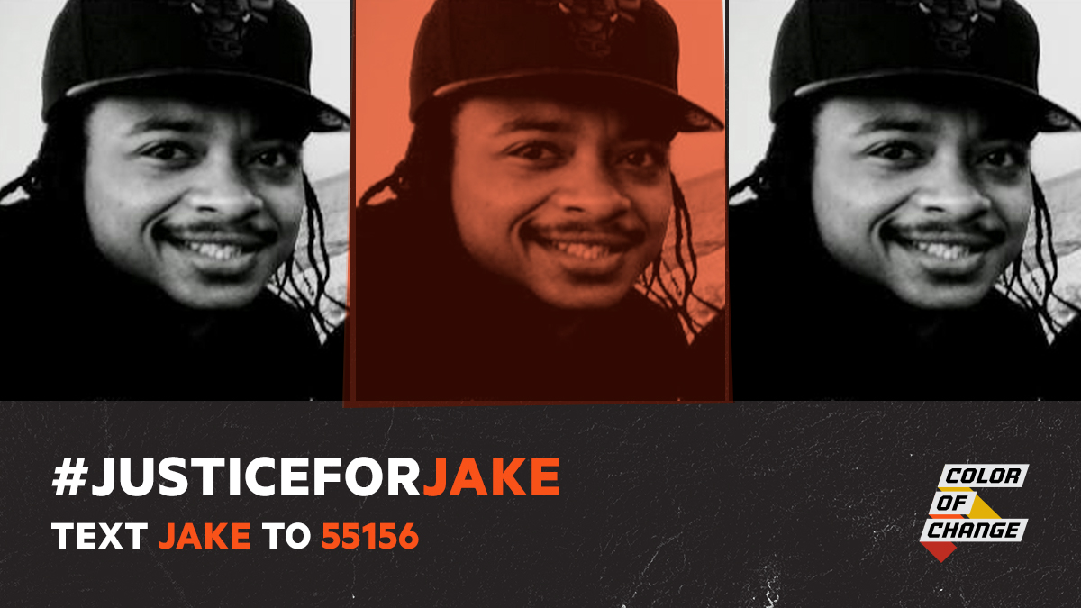 #JakeBlake was shot 7 times in his back by a police officer in front of his three small children after breaking up a fight between two women in his community.   Text 'Jake' to 55156 NOW to demand the officer is fired & arrested for attempting to murder Jake in broad daylight! https://t.co/y3Vs538f46