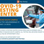 Image for the Tweet beginning: A new COVID-19 testing center