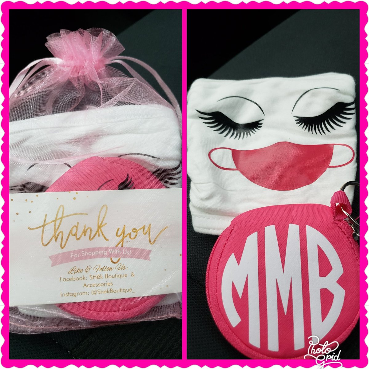 Hi guys! Have yall ordered your mask an pouch set yet? Jus recd another order frm @MzTrophyz Loven this one as well! Thanks so much sis😘😘
