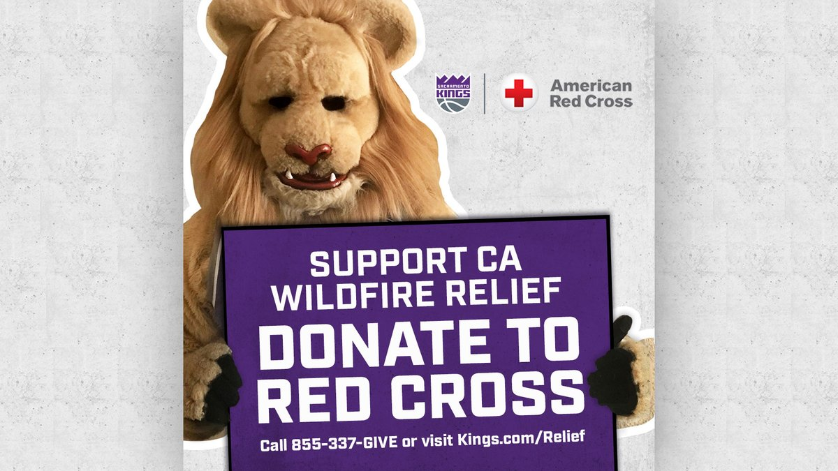 Join us in supporting California wildfire relief efforts.  Donate to @RedCross » https://t.co/dJ2zCBRgFU https://t.co/21fAQlfpLC