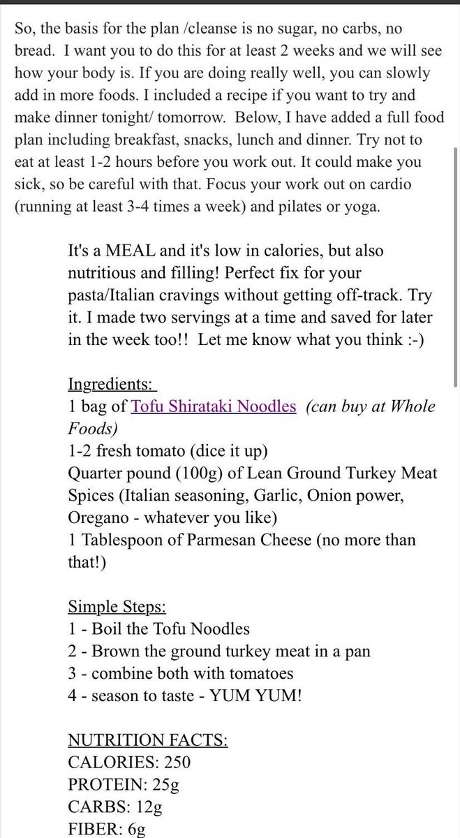 Shit Model On Twitter This Is A Meal Plan That Img Sent To A 16 Year Old Model This Is Literally How To Have An Eating Disorder 101