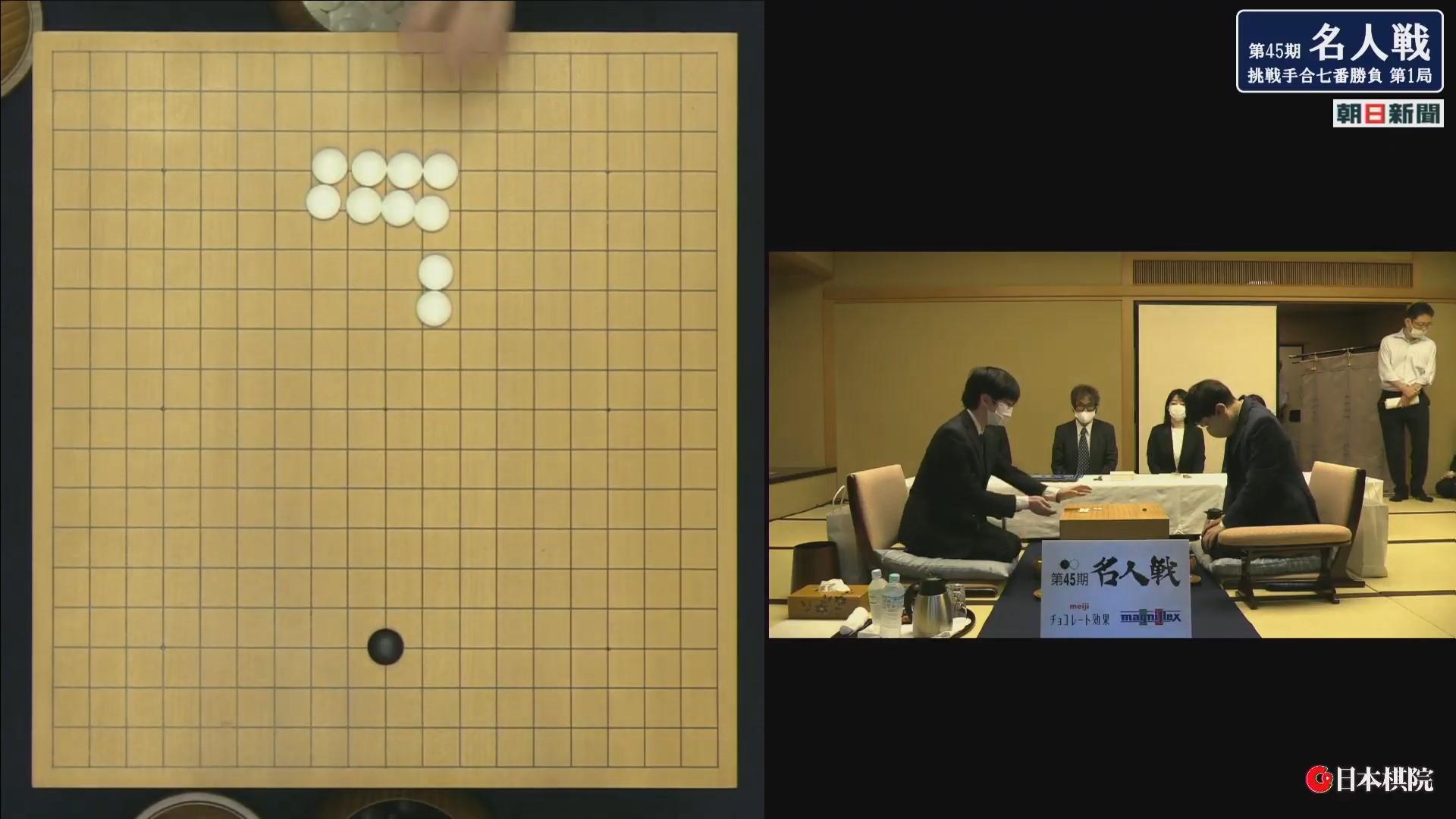 速報 囲碁 名人 戦