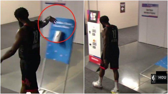 【影片】致命失誤葬送比賽!哈登賽後很沮喪,離場時憤怒推翻洗手液!-黑特籃球-NBA新聞影音圖片分享社區