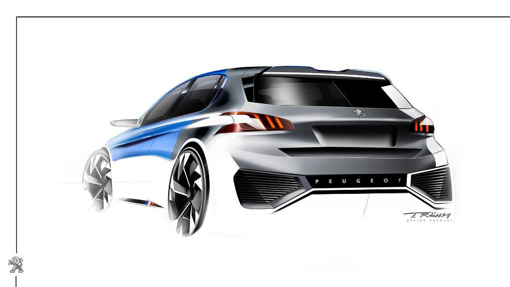 Ontdek het ontwerp van de #Peugeot308RHybrid. Ideale proporties voor pure prestaties. #Concept https://t.co/ApAOLE2xQ7