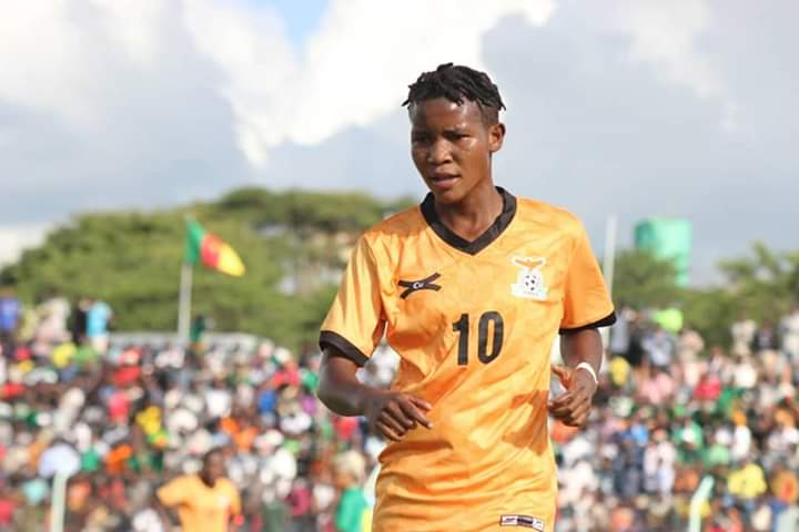 DID YOU KNOW?  Grace Chanda scored eight goals on the road to qualifying to the @Olympics and was the top goalscorer in Africa.   But that's not all in 2018 she scored 86 goals for Zesco United ladies in 26 games.   She was born to score goals. https://t.co/TqQOCfI88w