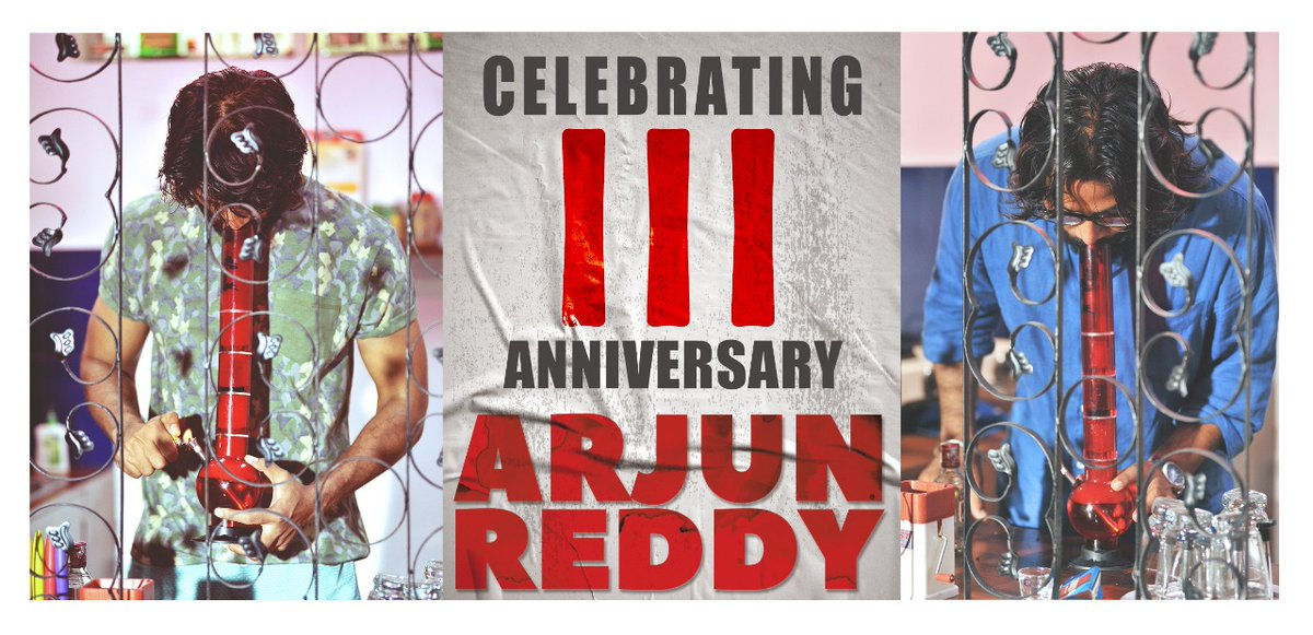 Three years to AR 🍾  The most imp day in our lives. We all were brought to light like a lightning strike when a charge separates within a cloud😄 A little overwhelmed description😁 Thank u all for the love 🙏 @TheDeverakonda  #ShaliniPandey @VangaPranay  @eyrahul  @rameemusic https://t.co/MT4BbyqPSH