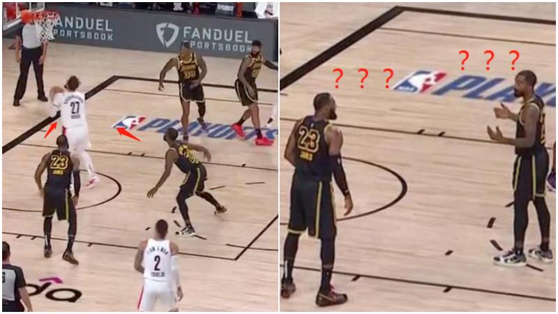 【影片】兩人同時漏防!詹皇JR尷尬對視,ESPN:多麼熟悉的一幕!