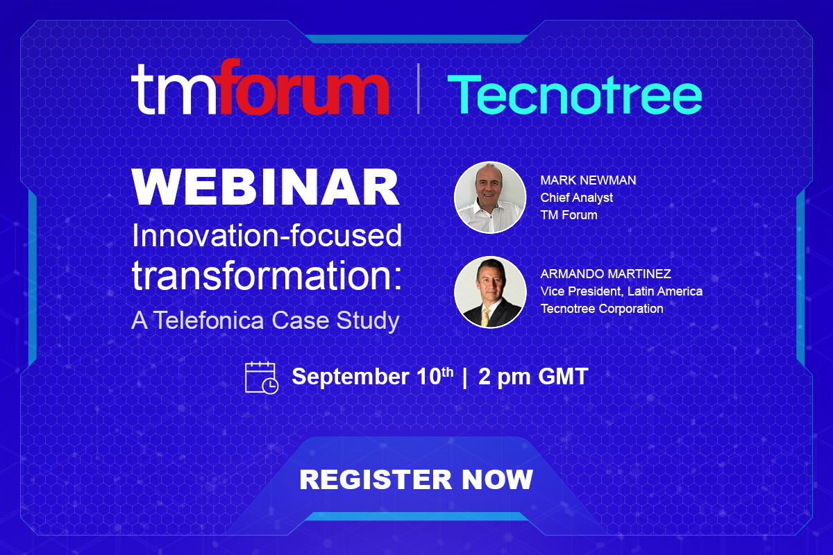 Join us in a webinar hosted by @tmforumorg to learn about #innovation focused #transformation   REGISTER HERE - https://t.co/6pkrBBcUCi  #Webinars #Telecinco #DigitalTransformation #Telecom #telecoms #BSS #businesssupport #architecture #architects https://t.co/2ZuGg78h21