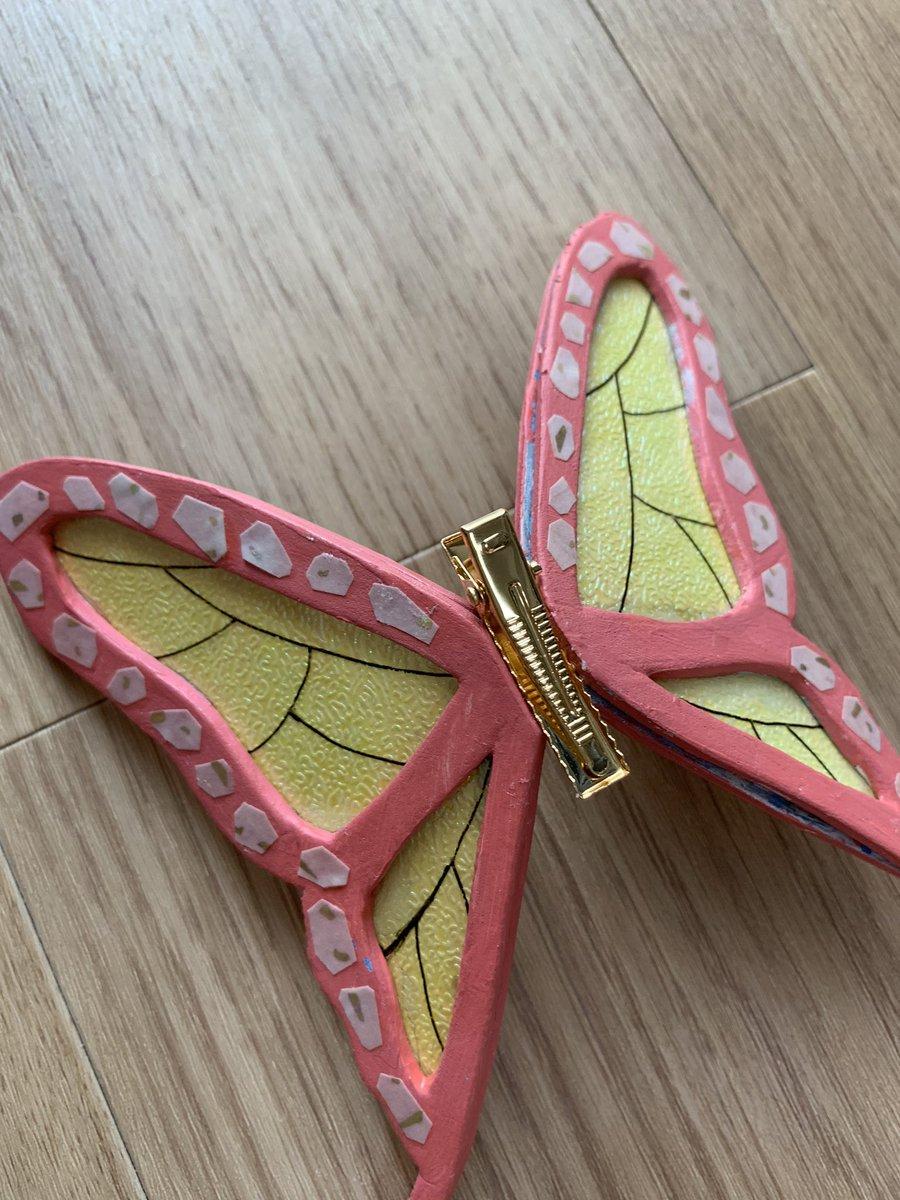 髪飾り 作り方 栗花落カナヲ 胡蝶しのぶの蝶の髪飾りを手作り!プラバンで超簡単に蝶々のアクセサリー作ってみた!(フリー画像あり)