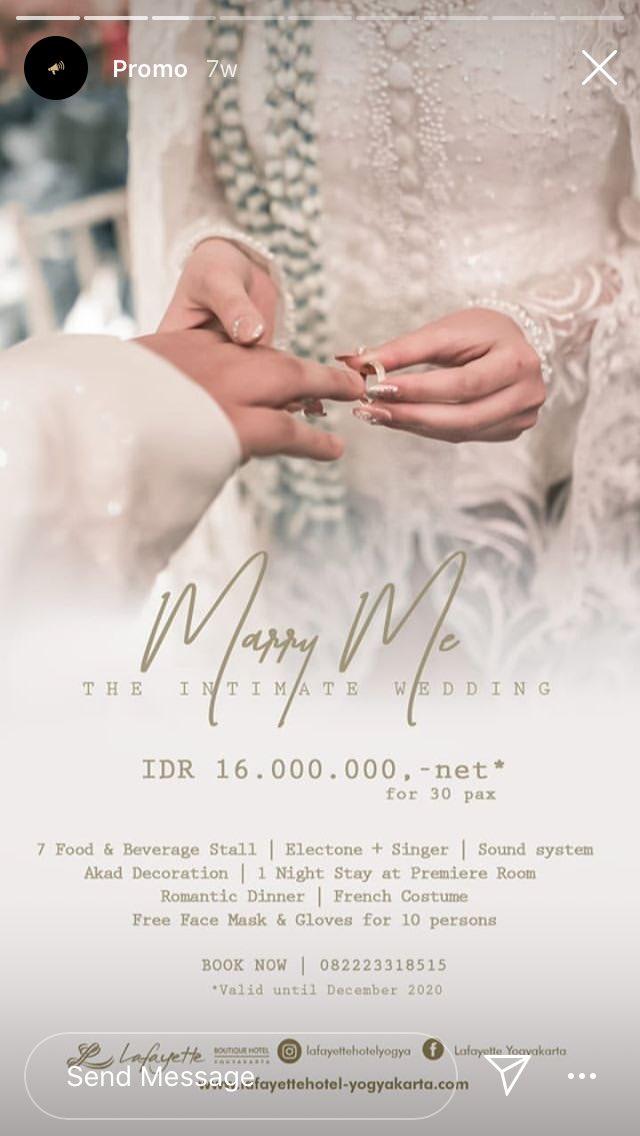 Mayasari On Twitter List Promo Paket Wedding Hotel Di Jogja Pandemi 2020 Garagarapandemi Ada Hikmahnya Nih Banyak Paketan Intimate Wedding Murah Wqwq A Thread