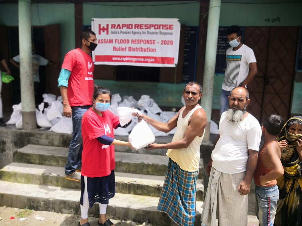 #AssamFloods2020: Glimpses from the distribution of dry ration for 350 flood affected families in Chirang District of Assam. #AssamFloods #AssamFloodRelief