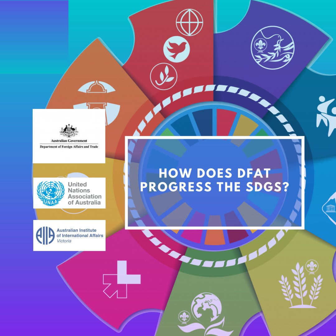 Join us for a live discussion with expert @nataliecohenaus on how @dfat progresses the UN #SDGs on 15 September at 6:30pm. Register:  https://t.co/jmFJlioIST  #sustainabledevelopment @AIIAVIC https://t.co/2c0SDYI45R
