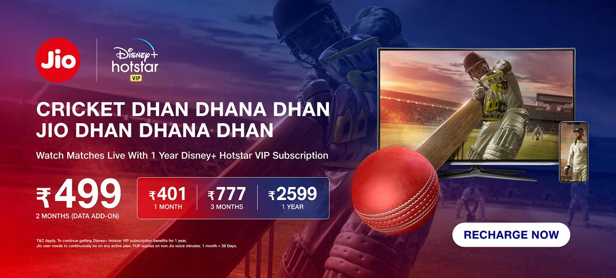 Jio introduces packs to watch live IPL matches