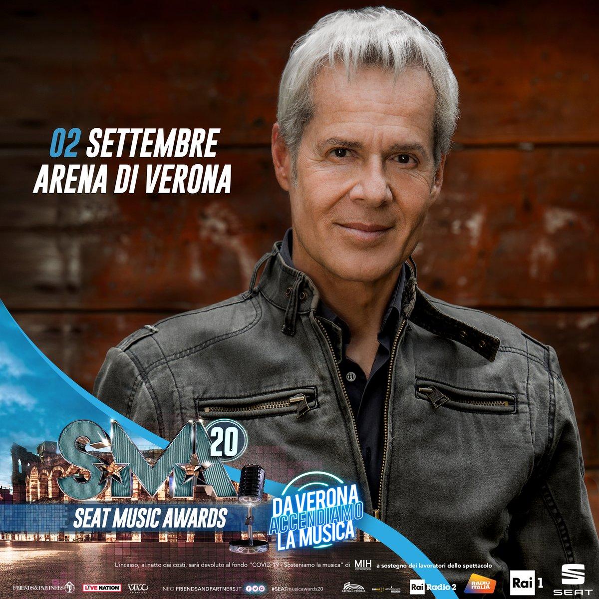 Claudio Baglioni sarà presente ai Seat Music Awards 2020 il 2 settembre in diretta in prima serata su Rai 1 dall'Arena di Verona. #SeatMusicAwards20 @SMAufficiale https://t.co/GVEXyKWbmk